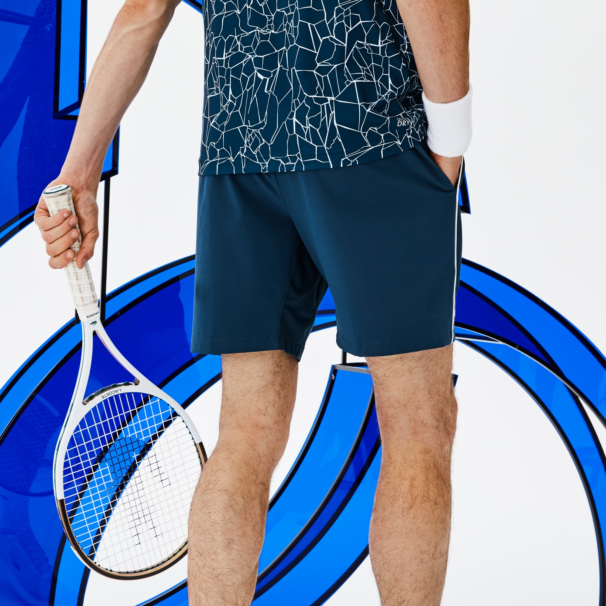 Men's  SPORT NOVAK DJOKOVIC SUPPORT WITH STYLE COLLECTION Piped Stretch Technical Shorts