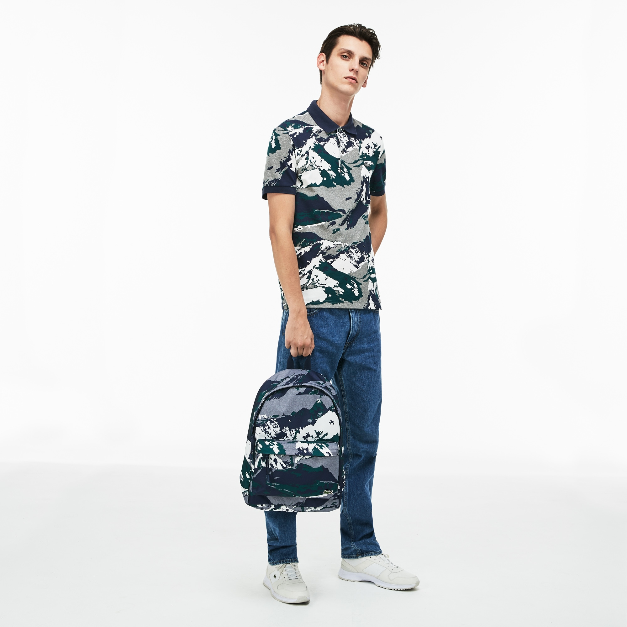 Men's Néocroc Alpine Print Canvas Backpack