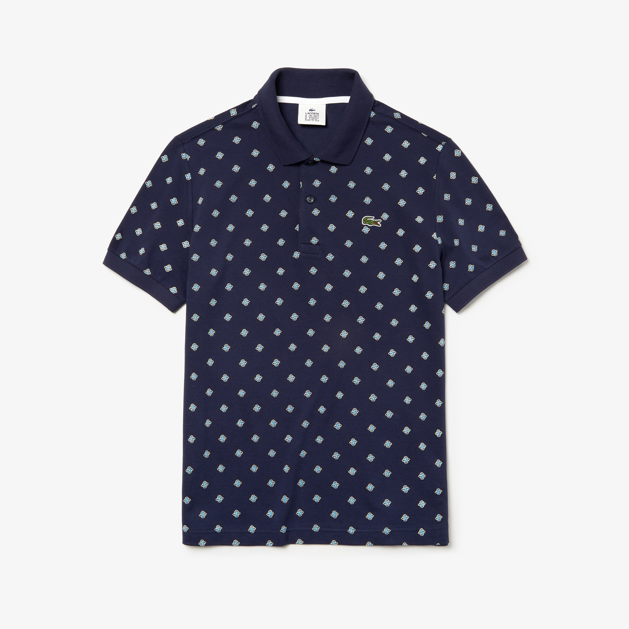 Men's LIVE Paisley Mini Piqué Polo