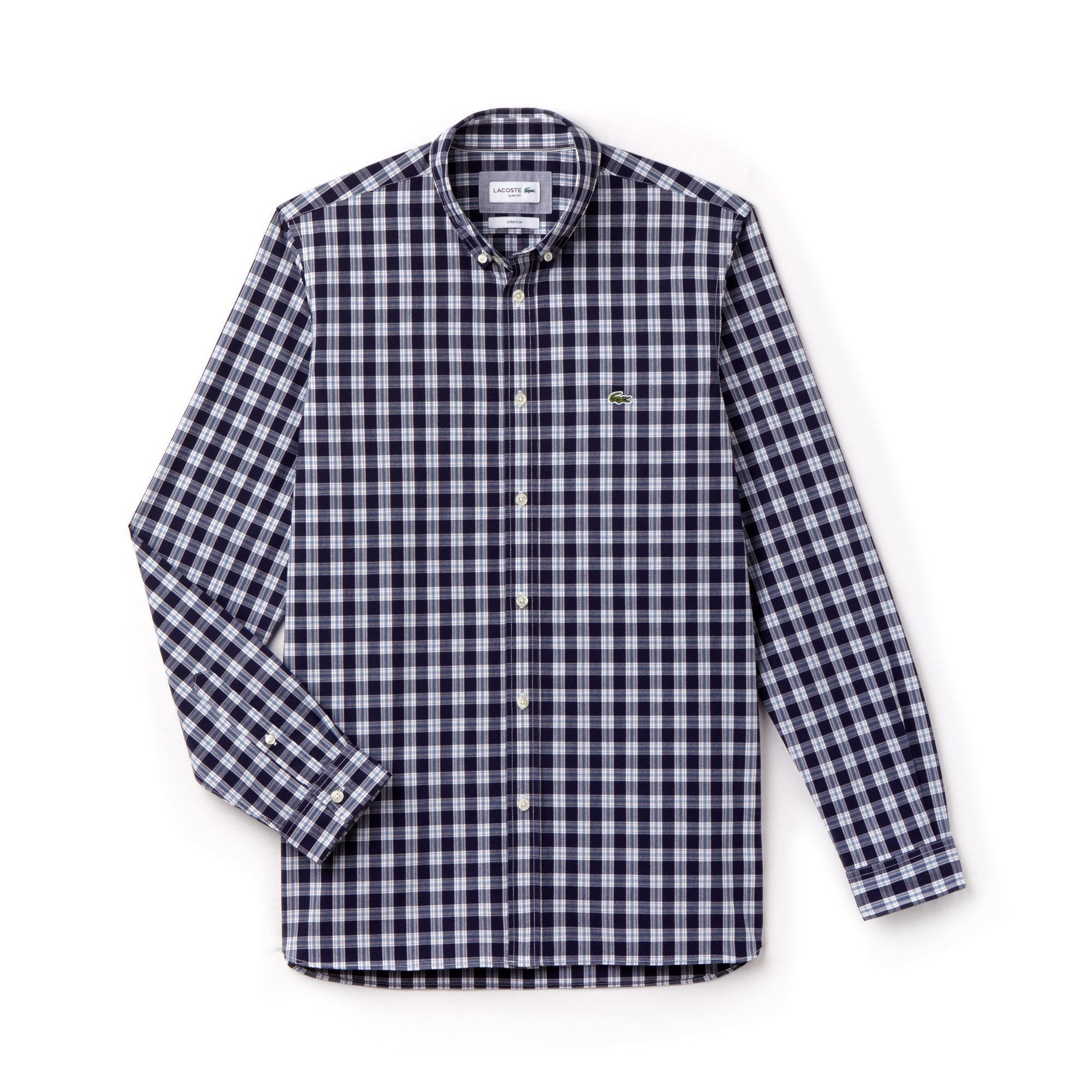Men's Slim Fit Check Stretch Oxford Shirt
