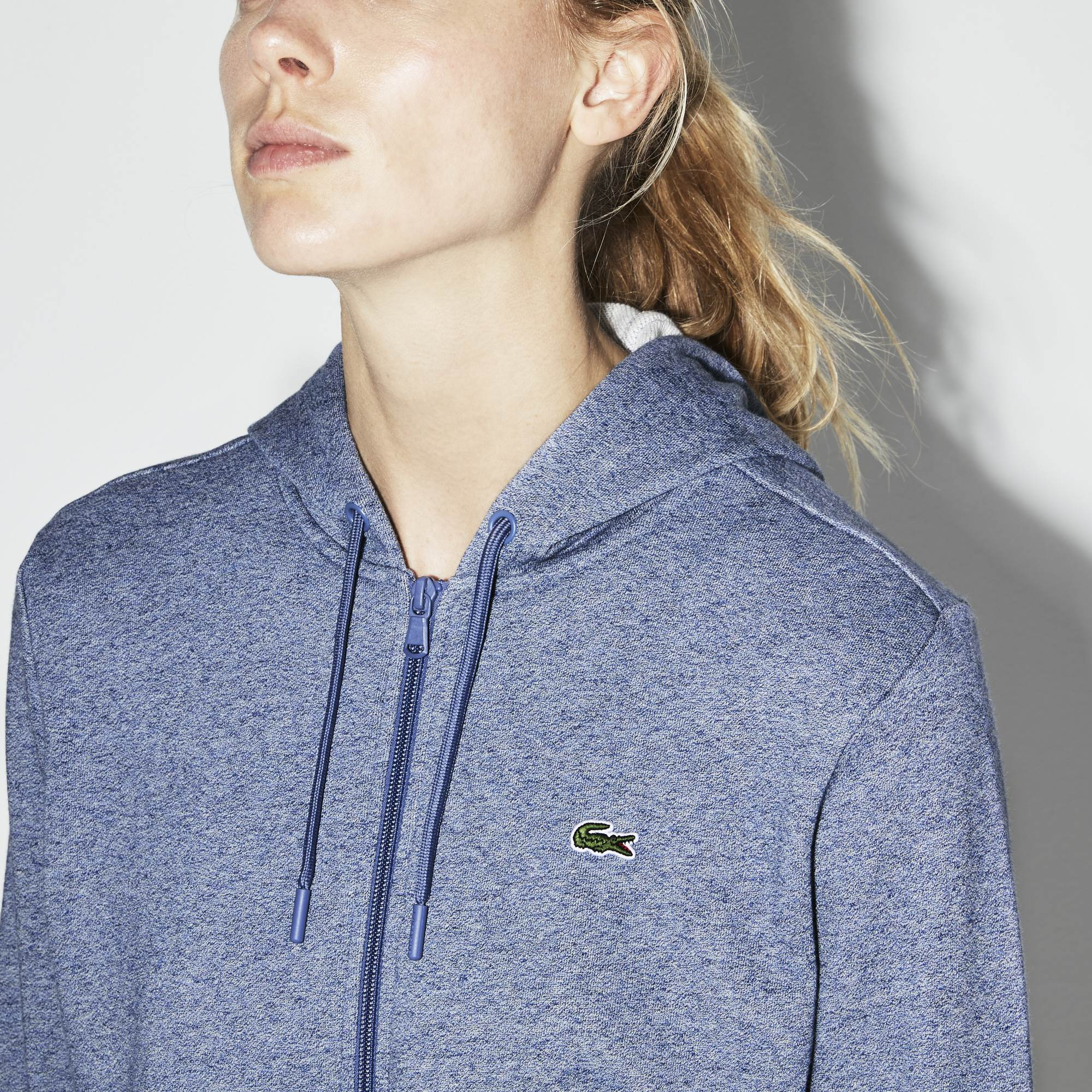 Women's  SPORT Tennis Hooded Zippered Fleece Sweatshirt