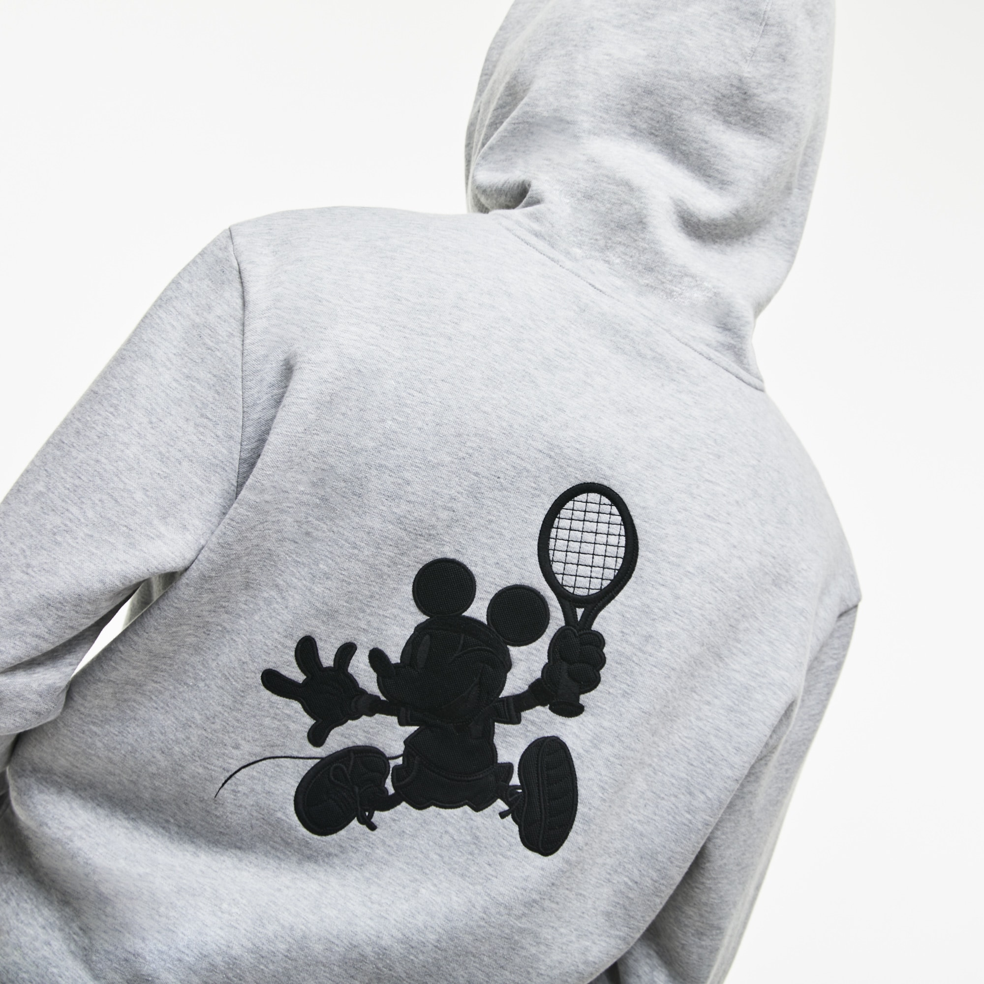 Unisex Disney Mickey Embroidery Hooded Fleece Sweatshirt