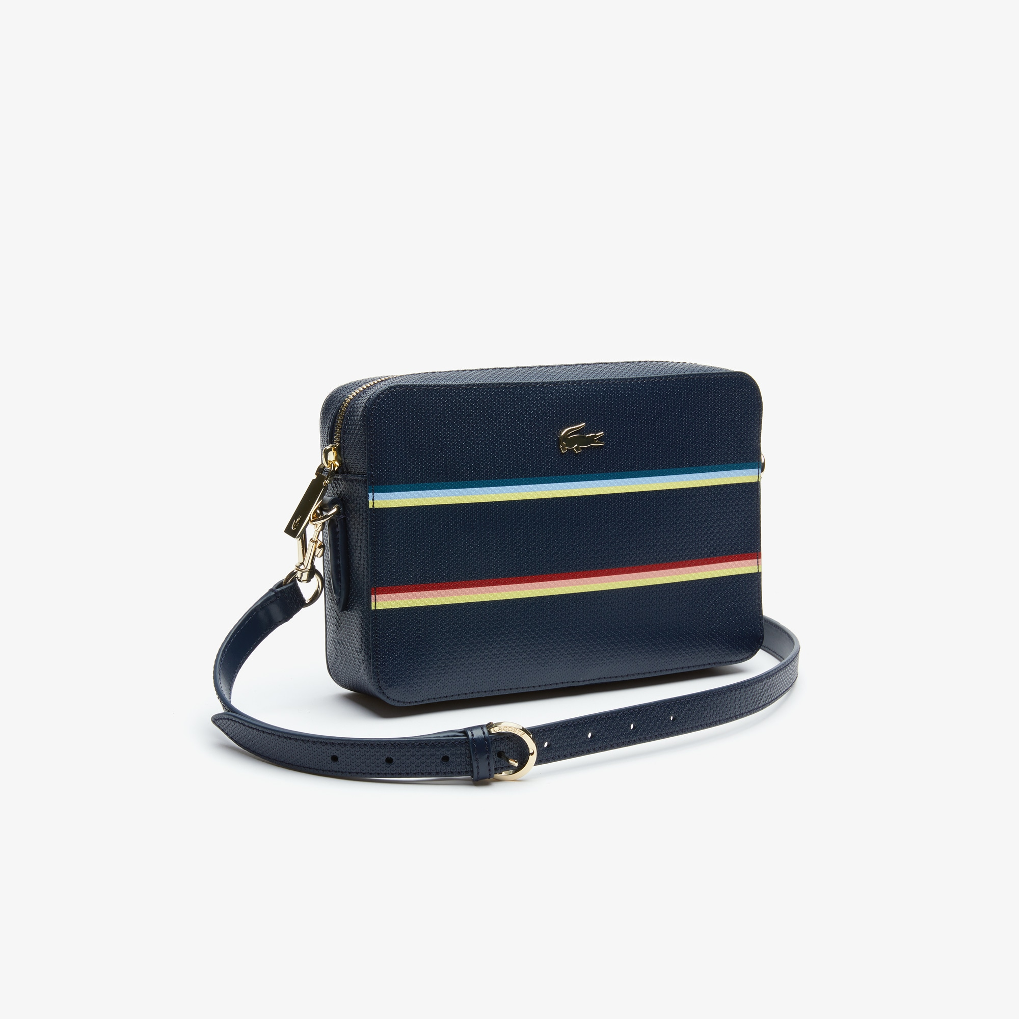 85f851335bef Women s Chantaco colour Striped Piqué Leather Square Shoulder Bag ...