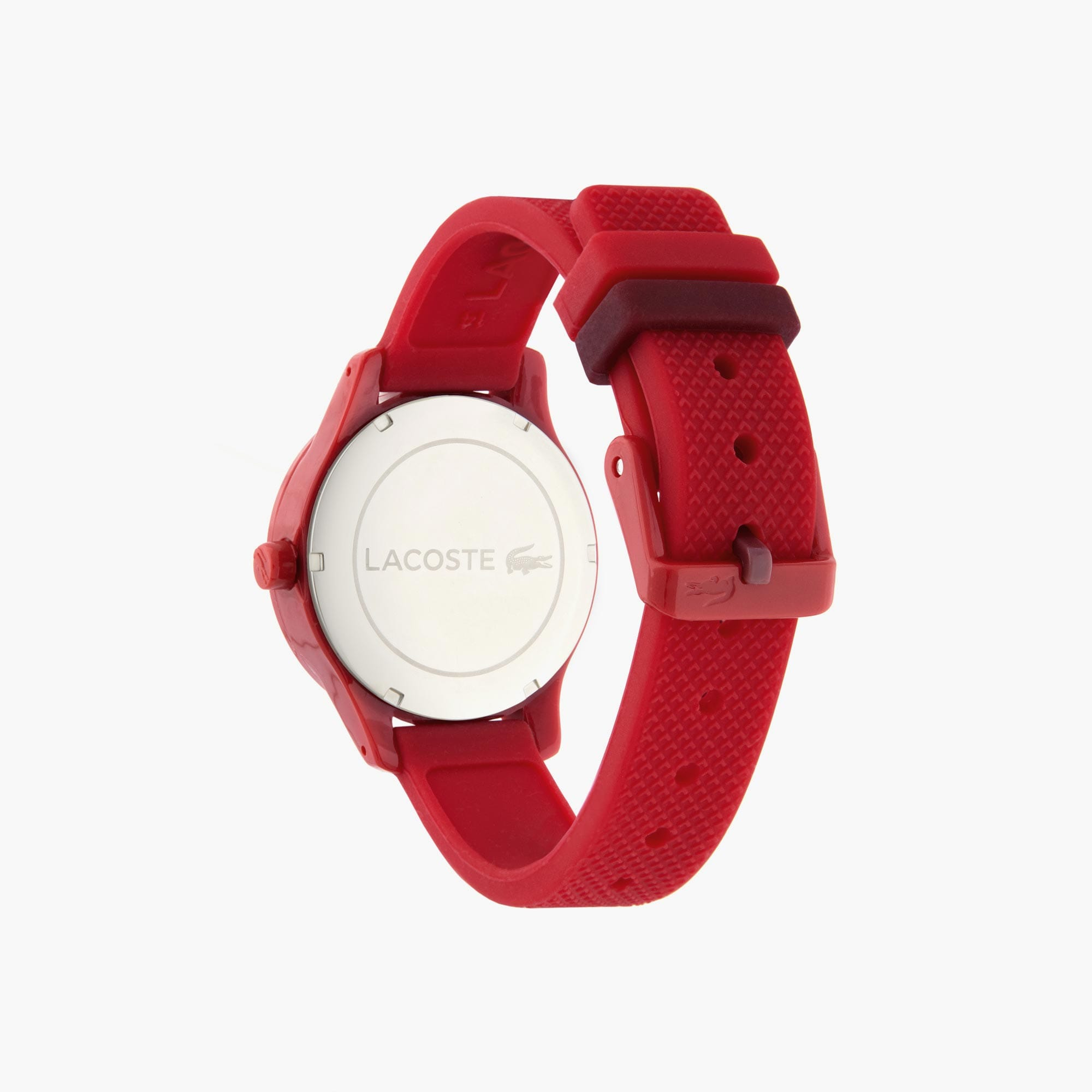 Kids Lacoste.12.12 Red Silicon Strap