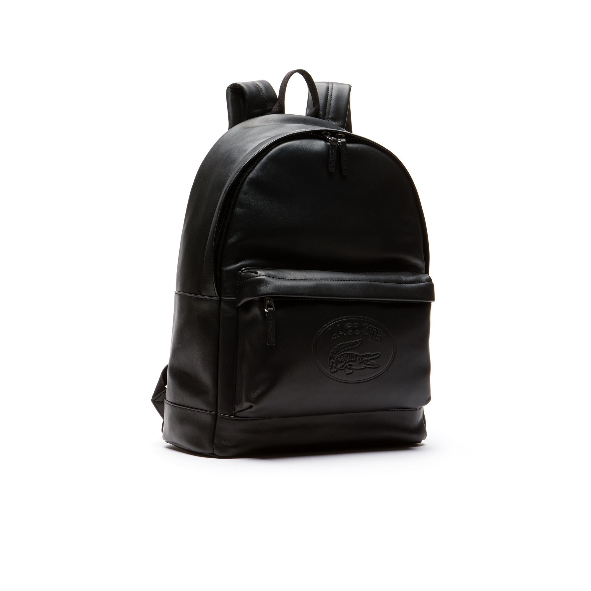 e14600f1805c Men s L.12.12 Casual Embossed Lettering Leather Backpack