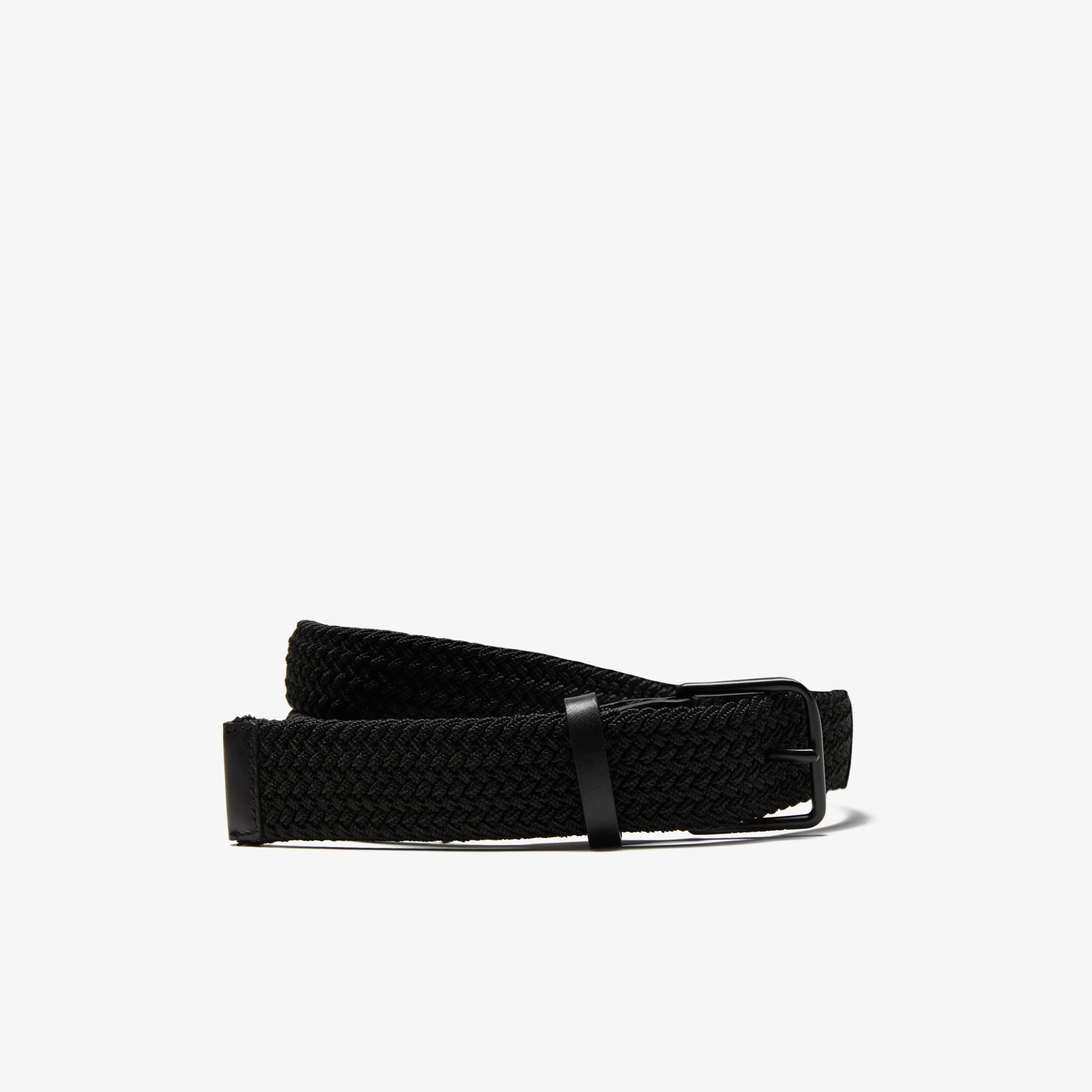 Men's Engraved Buckle Braid Belt