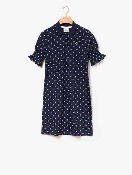 Smocked Sleeves Polo Dress